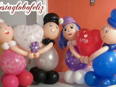 Como hacer novios con globos para San Valentín