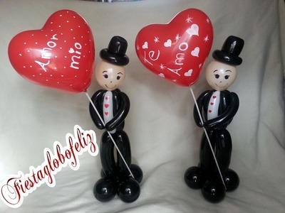 Como hacer un Caballero enamorado❤ con globos - ????especial de san Valentín