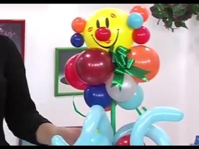 Como hacer un Centro de Mesa para Fiesta de Niños con Globos como Payaso  por Juan Gonzalo Angel