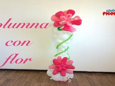 Como hacer una columna con flor deformada # 94