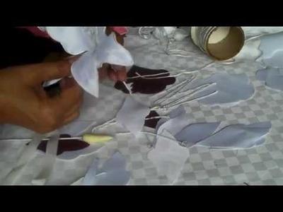 Como hacer una orquidia con tela