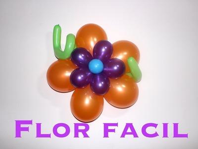 Flor de globos muy fácil y rápido # 7