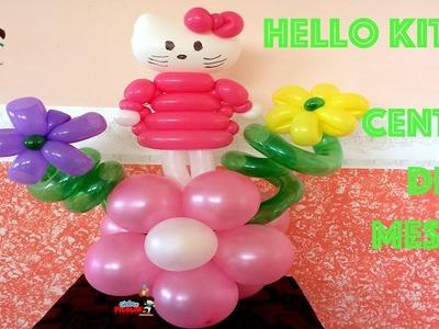 Hello kitty centro de mesa con globos # 113