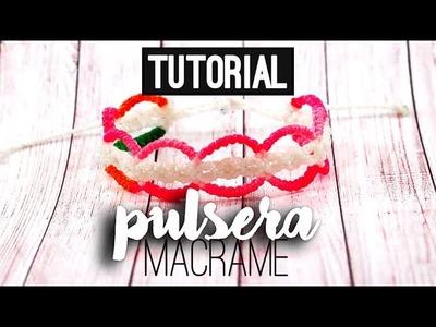 PULSERA DE MACRAME » ???? tutorial | como hacer | diy ● Friendship bracelet #84