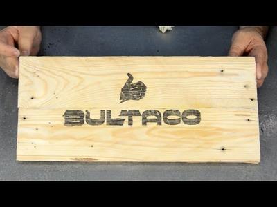 Transferencia de imagenes a madera con acetona. Un logo de Bultaco