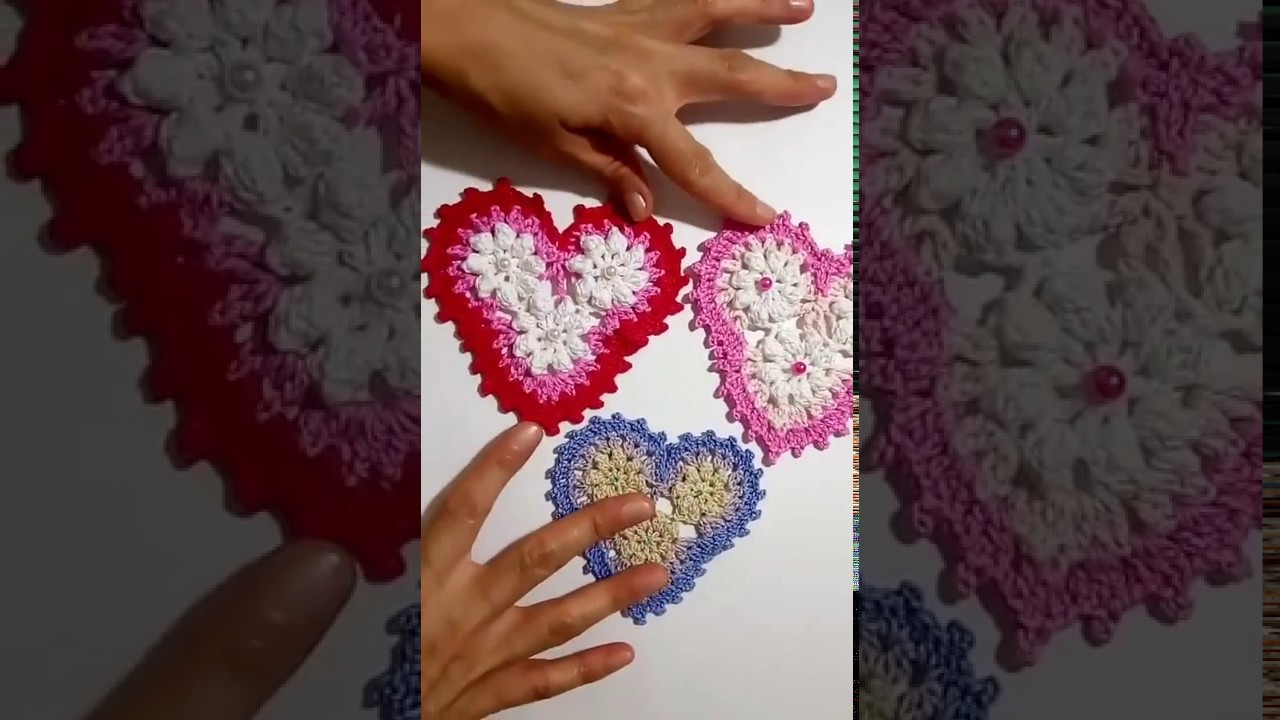 Adelanto de los próximos corazones a crochet para el Día de San Valentín
