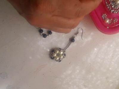 Aretes combinados de perlas paso a paso