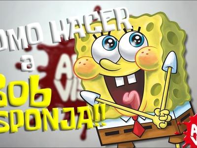 ARTE VISUAL - COMO HACER A BOB ESPONJA #BobEsponja #Spongebob