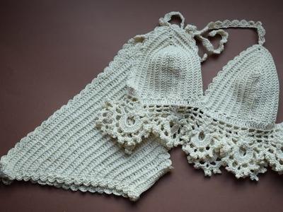 Braguita de bikini a crochet #tutorial