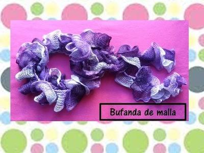 ♥♥BUFANDA TEJIDA DE MALLA♥♥- CREACIONES mágicas♥♥