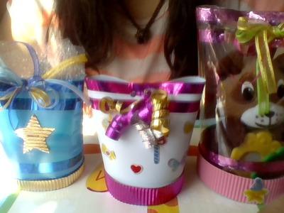 Caja de regalo con botellas recicladas MDulceCreación