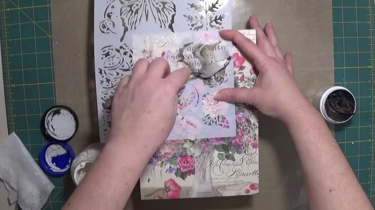 Caja libro con decoupage y texturas