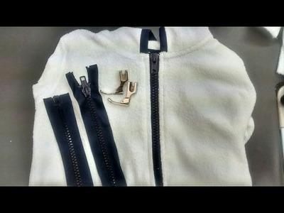 Cocer un cierre en chamarra o cualquier prenda. How to sew a closure in a jacket or any garment