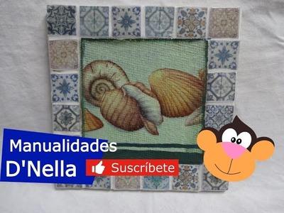 """Como Hacer Imitación Mosaico con Falsos Acabados By : """"Taller Nella 2017"""""""