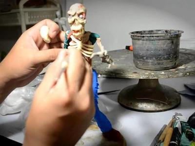 Como hacer un Zombie -Pasta Epoxy y Francesa (how make a Zombie figure)