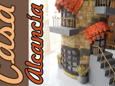 Cómo hacer una  ALCANCÍA ARQUITECTURA DE FANTASÍA Castillo Miniatura Tutorial Inerya viris