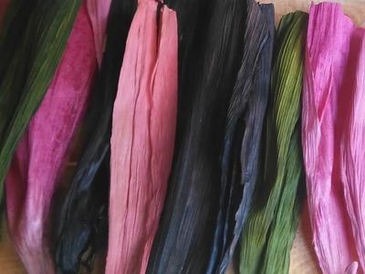 Como teñir hoja de maiz o totomoxtle con colorante de tela