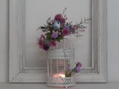 Decoración romántica Jaula con Flores