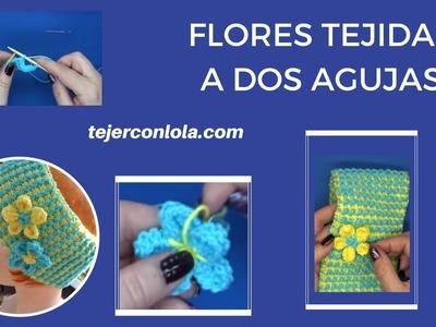 "FLORES TEJIDAS A DOS AGUJAS ""SUPER FACIL"""