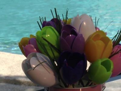 Hermosos Tulipanes con Cucharas - Fácil& Con Amor.