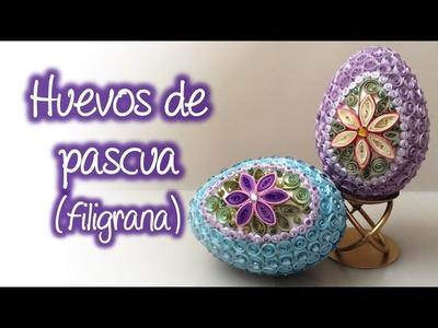 Huevo de pascua de filigrana, Quilling easter egg