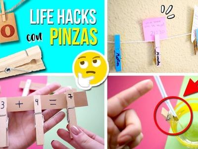 ¡¡10 Increíbles Life hacks PINZAS de la ROPA!! ???? MIRA todo lo que puedes hacer con ellas. ¡Genial!