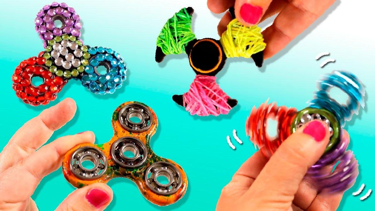 ¡¡PERSONALIZA tu FIDGET SPINNER!! * 5 IDEAS para Customizar y DECORAR tu Spinner