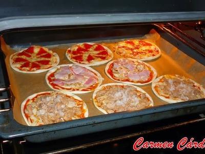 Mini pizzas en masa para empanadillas, Receta paso a paso de Carmen Cárdenas