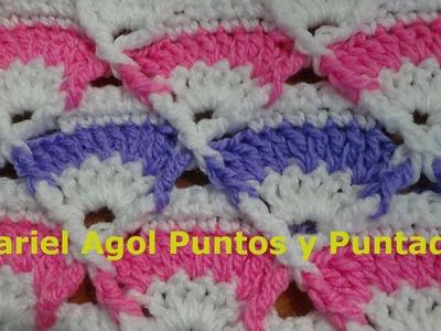 Puntada a crochet, linda y fácil;  rápida y divertida. Muestra No. 141