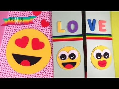 Tarjeta Emojis para el día del amor y de la amistad