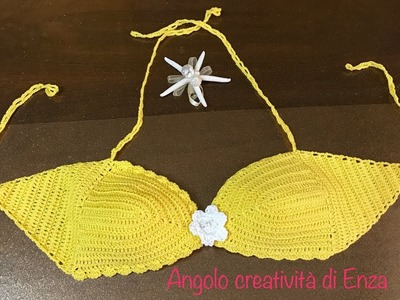Top - bikini all'uncinetto facile.Top Easy Crochet Bikini.Ganchillo del bikini fácil