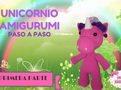 Unicornio crochet amigurumi parte 2 🦄🦄🦄 - YouTube | Crochet ... | 300x400