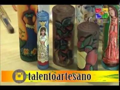 VELAS TALLADAS FRUTAS- PARTE 3 - TALENTO ARTESANO