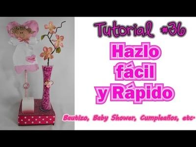 Centro de Mesa Bautizo Baby Shower Cumpleaños Recuerdo Arreglo tutorial #36