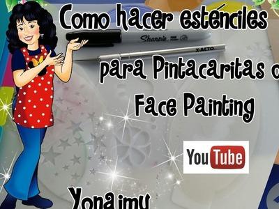 COMO HACER ESTENCILES PARA PINTACARITAS O FACE PAINTING
