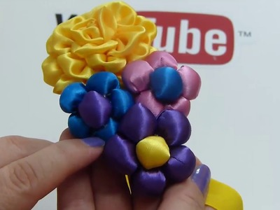 Como Hacer Flores de tela,tiaras con flores para bebes,How to make flowers with fabric