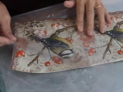 Cómo hacer símil trencadis con acetato - How to make faux trencadis on acetate