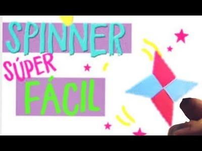 COMO HACER UN FIDGET SPINNER DE PAPEL FACIL Y RAPIDO | Fiore & Faby