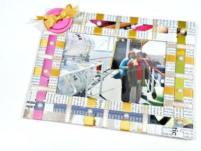 Cómo hacer un portafotos con material reciclado | Reciclaje Creativo