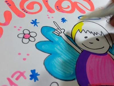Cómo marcar cuadernos de religión. Con muñeco angelito