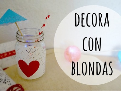 Decora con Blondas de Papel ♥