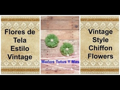 FLOR DESHILADA DE TELA Paso a Paso VINTAGE CHIFFON FLOWER Tutorial DIY How To PAP Video 176