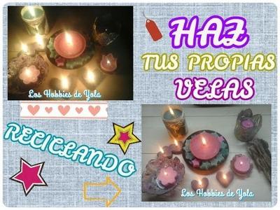 Haz tus propias velas reciclando. Los Hobbies de Yola ????????????❤