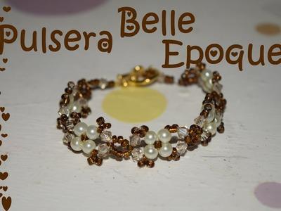 Pulsera Belle Epoque - Tutorial - DIY
