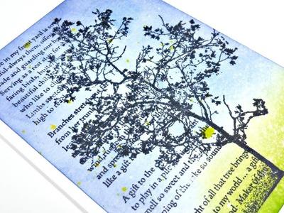 Tarjeta sencilla con tintas distress y agua | Easy Card