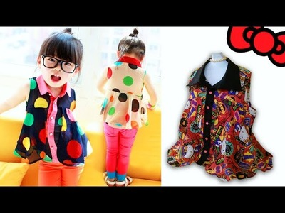 TUTORIAL BLUSON TIPO CAMISERO PARA NIÑA + PATRÓN | DIY Shirt Blouse for girls + pattern