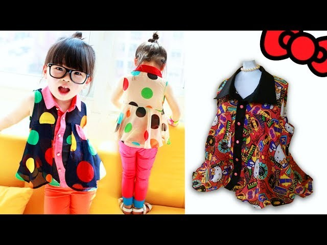 TUTORIAL BLUSON TIPO CAMISERO PARA NIÑA + PATRÓN   DIY Shirt Blouse for girls + pattern
