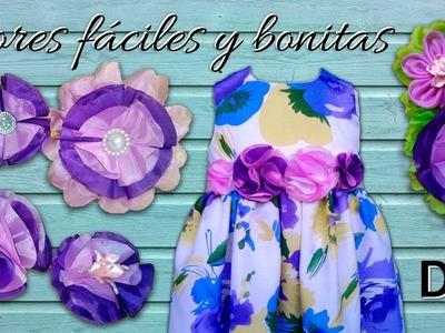 TUTORIAL: COMO HACER FLORES EN TELA BONITAS Y FÁCILES!! | DIY BEAUTIFUL AND EASY FLOWERS