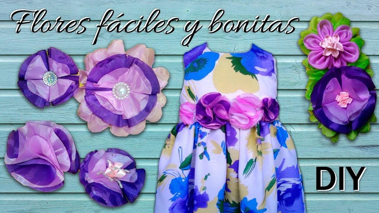 TUTORIAL: COMO HACER FLORES EN TELA BONITAS Y FÁCILES!!   DIY BEAUTIFUL AND EASY FLOWERS