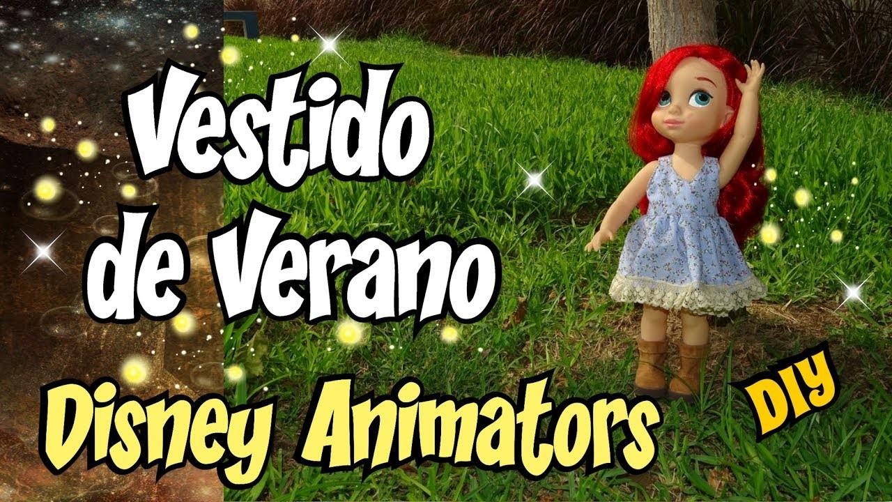 Vestido de Verano DIY para muñecas Animators Costura Tutorial